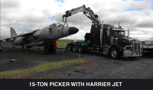 15-ton picker with harrier jet